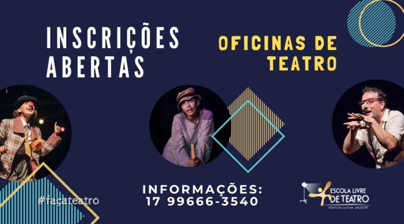 Estão Abertas as Inscrições para Oficinas de Teatro em Jales